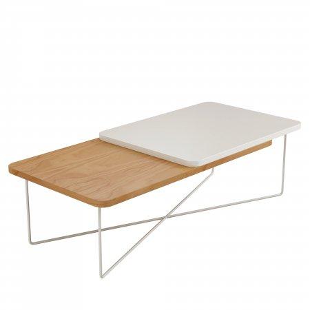 Mesa de centro Morelli Cinamomo com Laca Branco Metal 10598029