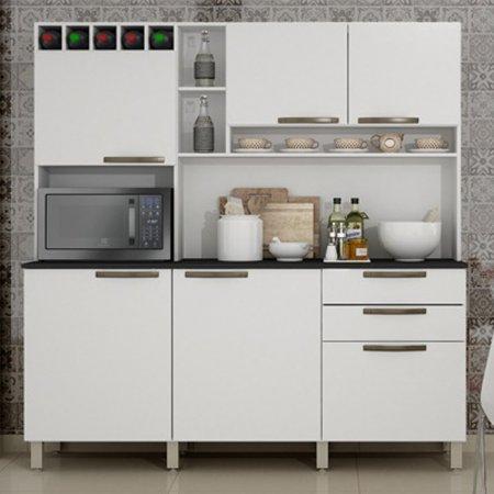 Kit de Cozinha Topázio 165 cm Branco 10597003