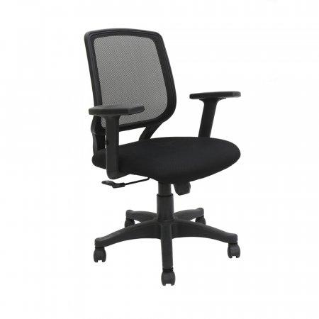 Cadeira de escritorio Rvt Avila Preto Braços ajustável