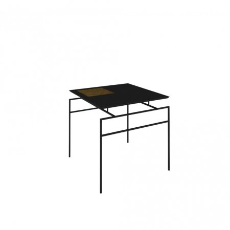 Mesa de Canto 60 cm Rudnick Marselha Preto Fosco Metal Preto 10579063