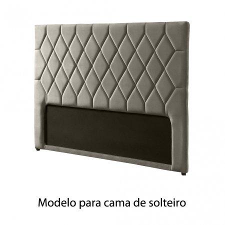 Cabeceira Estofada Plat 95 cm Solteiro MP015 Cinza Claro 10565883