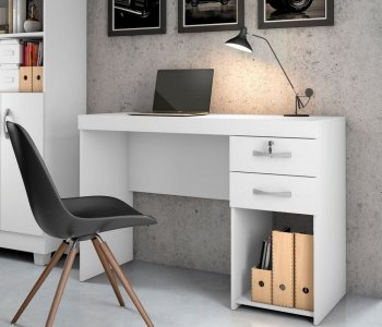 Mesa para Computador Escrivaninha Office 120 cm Branca 10184282