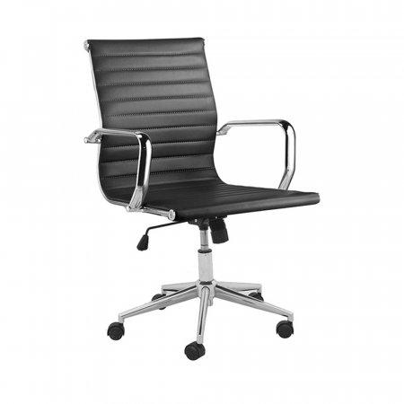 Cadeira de Escritório Sevilha Estofada Preta 10394151