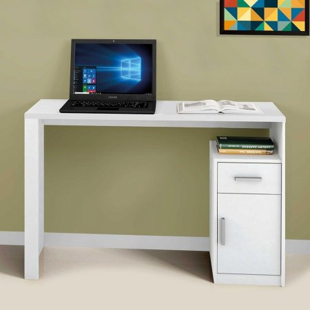 Mesa Para Computador Escrivaninha Mavaular Luminus Branca