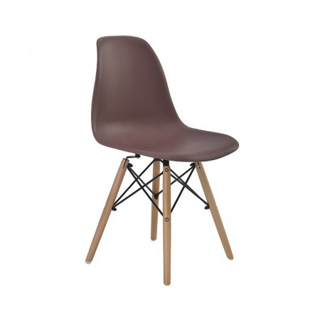 Cadeira Rivatti Eiffel Café com Base de Madeira 10394145