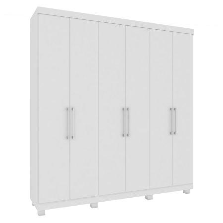 Guarda Roupa Rimo com 6 Portas de Abrir 211,5 cm 100% MDF Branco 10523302