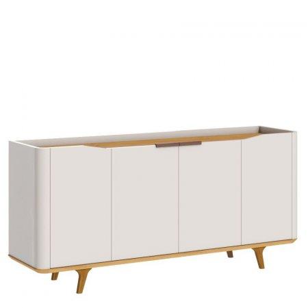 Buffet 160cm 4 Portas Off White com Nature 10327080