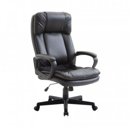 Cadeira Estofada de Escritório Bermeu Preta 10394134