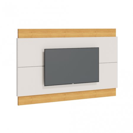 Painel Suspenso para TV 180 cm Off White com Nature 10327081