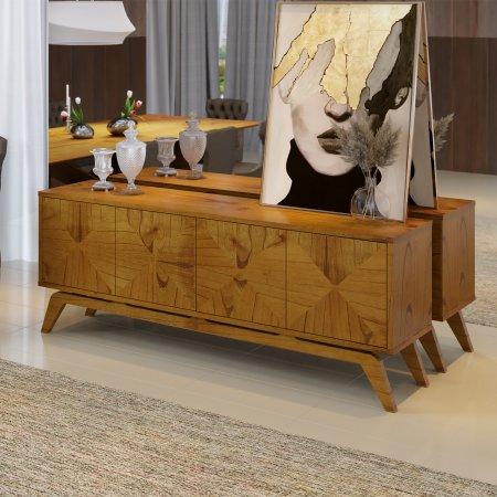 Balcão Buffet Domenico 200 cm Cinamomo com Amendoa 10598032