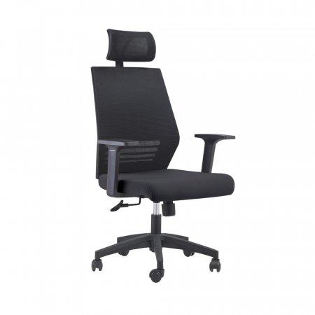 Cadeira de Escritório Braga com Braço Regulável Preta 10394126