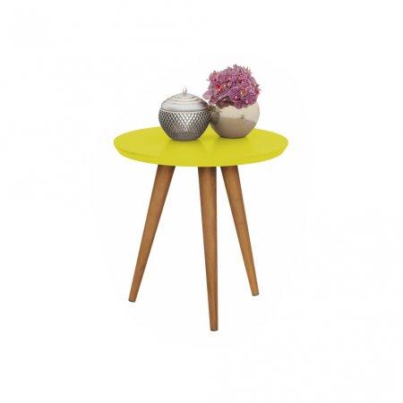 Mesa de Apoio 45x50 cm com Pés Palito Amarela 10460018