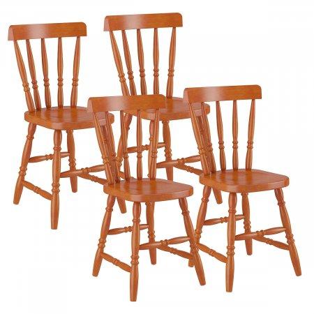 Conjunto 4 Cadeiras de Madeira 102LA Mel 10143163