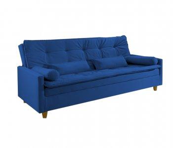Sofá Cama Veneza Tecido 2224B Suede Azul 10527018
