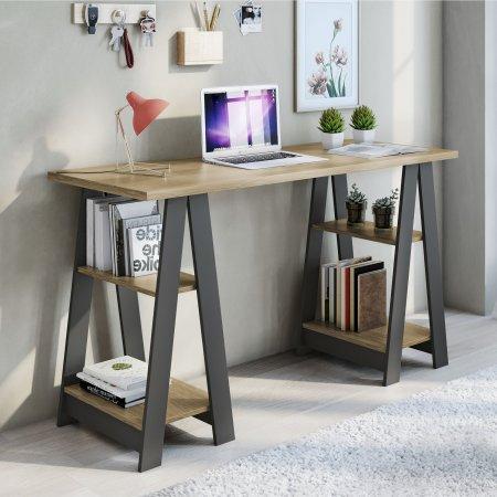Mesa para Computador Escrivaninha 136,5 cm Grafite com Noronha 10184369