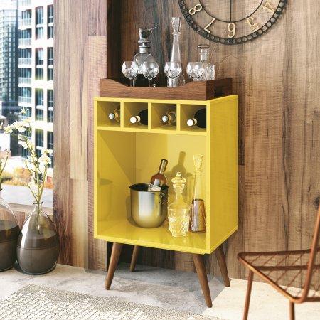 Bar Pub 44 cm com Bandeja Amarelo 10180127