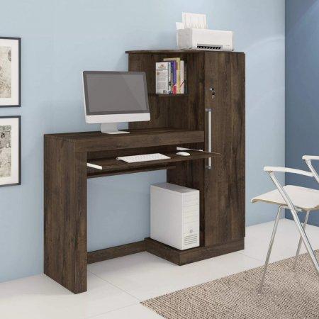 Mesa para Computador Escrivaninha 125 cm com Armário Cacau 10184187
