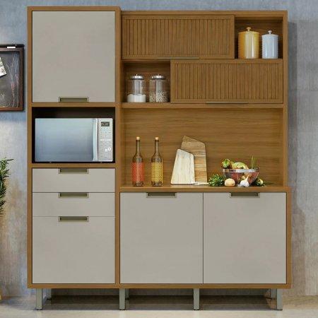 Armario de Cozinha Loft Imperatriz 183cm Freijo com Off White 10533047