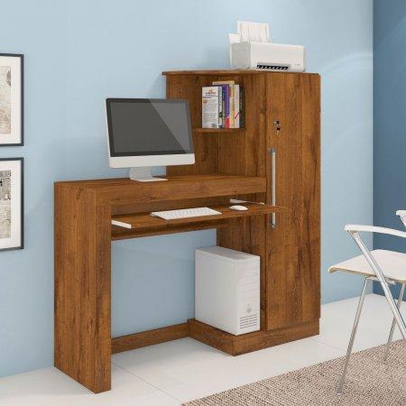 Mesa para Computador Escrivaninha 125 cm com Armário Nobre Soft 10184258