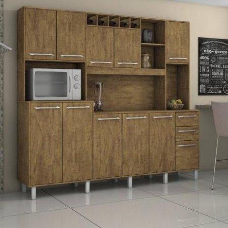 Kit de Cozinha Petra 218 cm Ipê 10561014