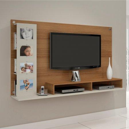 Painel Suspenso para TV 182 cm Noronha com Off White 10184310