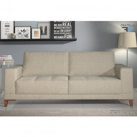 Sofá Cotidiano modelo 02 3 Lugares 200cm tec 807