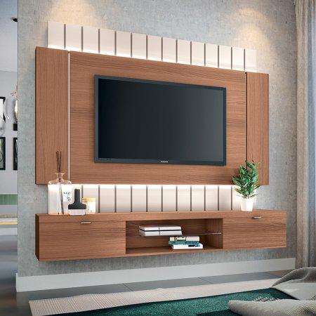 Painel Suspenso para TV 180 cm Nature com Off White 10346306