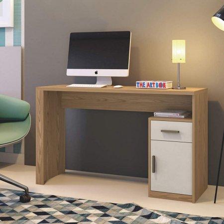 Mesa Para Computador Escrivaninha 120 cm Damasco com Off White 10034055