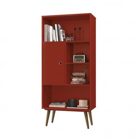 Livreiro 60 cm Vermelho 10180118