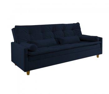 Sofá Cama Veneza 210 cm Tecido 2224B Suede Azul 10527018