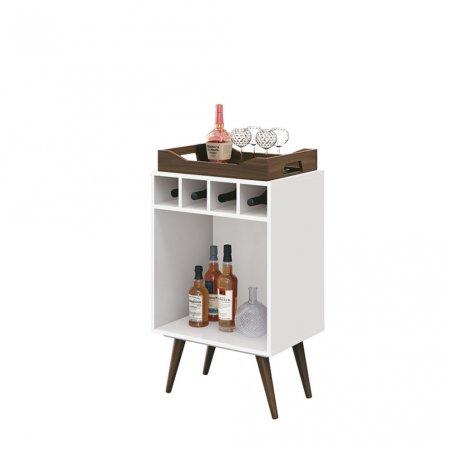 Bar Pub 44 cm com Bandeja Branco 10180155