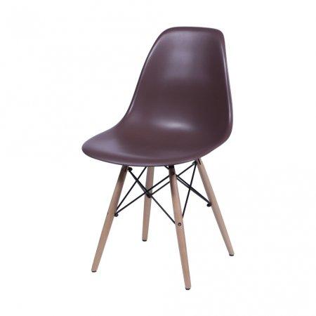 Cadeira OR 1102B Café com Base de Madeira 10580037