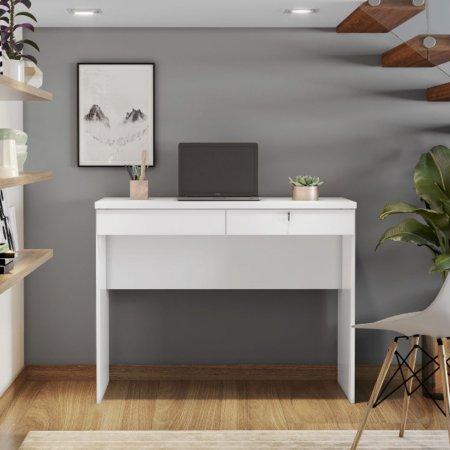 Mesa para Computador Escrivaninha 104 cm Branco 10184363