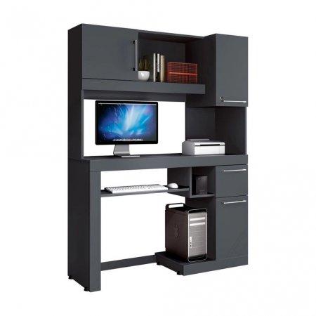 Mesa para Computador Office 124 cm Grafite 10180211