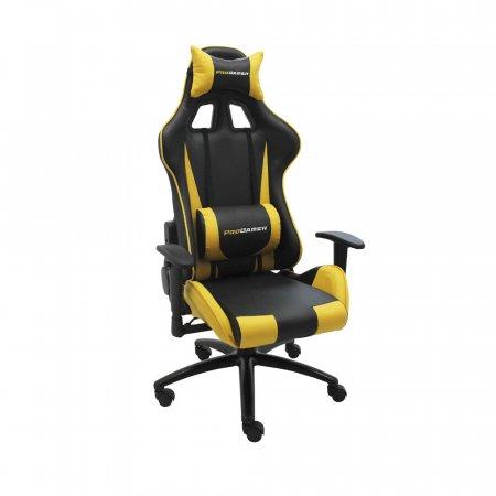 Cadeira Pro Gamer V2 Reclinável com Almofadas Amarelo com Preto 10394155