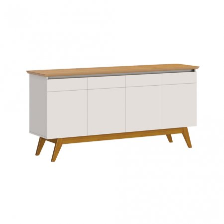 Buffet Balcão 165 cm Off White com Nature 10327079