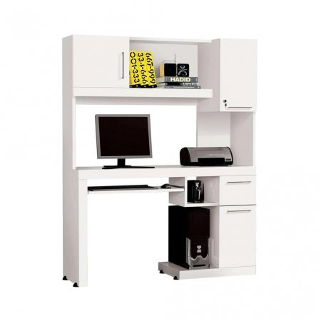 Mesa para Computador Office 124 cm Branco 10180210