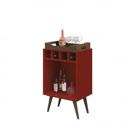 Bar Pub 44 cm com Bandeja Vermelho 10180133