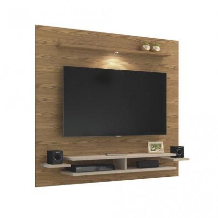 Painel Suspenso para TV 180 cm com LED Damasco com Off White 10034072