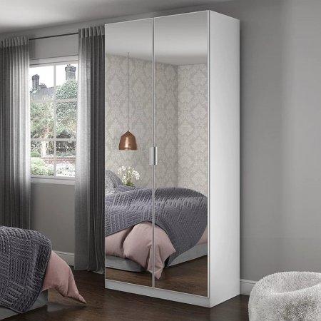 Sapateira Multiuso Dália 71 cm 02 Portas Espelhadas Branco 10410072