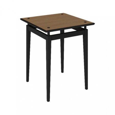 Mesa de Canto 60 cm Rudnick Lauren Preto com Amêndoa 10579074