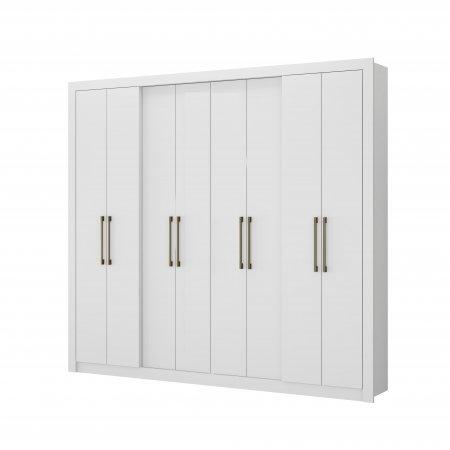 Guarda Roupa com 8 Portas de Abrir 243,6 cm Branco 10400102