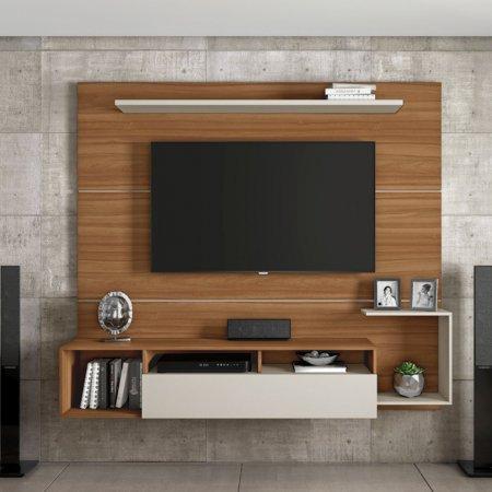 Painel Suspenso para TV 182 cm Noronha com Off White 101843511