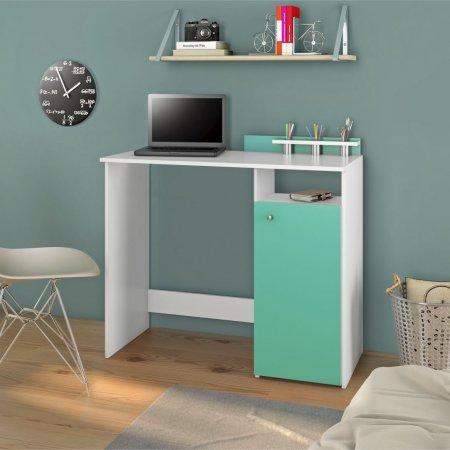 Mesa para Computador Escrivaninha 98 cm Branco com Tifany 10184311