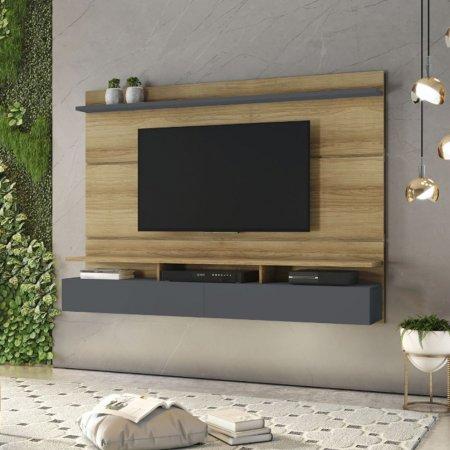 Painel Suspenso para TV 182 cm Noronha com Grafite 10184367