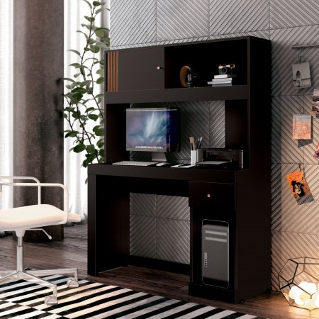 Mesa para Computador Office 108 cm Grafite 10180233