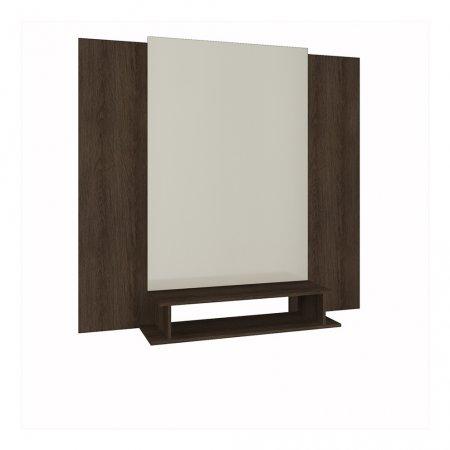 Painel de TV 100x140x160 cm Rimo Setiba Tauari com Off White 10523325