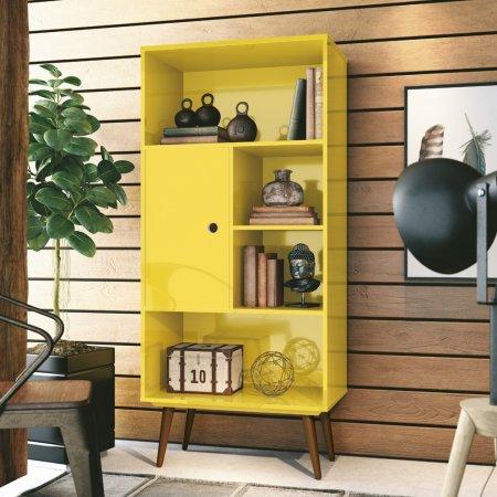 Livreiro 60 cm Amarelo 10180122