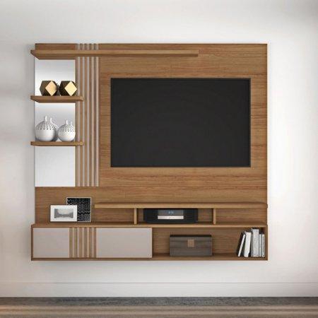 Painel Suspenso para TV 167 cm Noronha com Off White 10184319