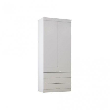 Guarda Roupa com 2 Portas de Abrir 91 cm Branco Acetinado 10410032